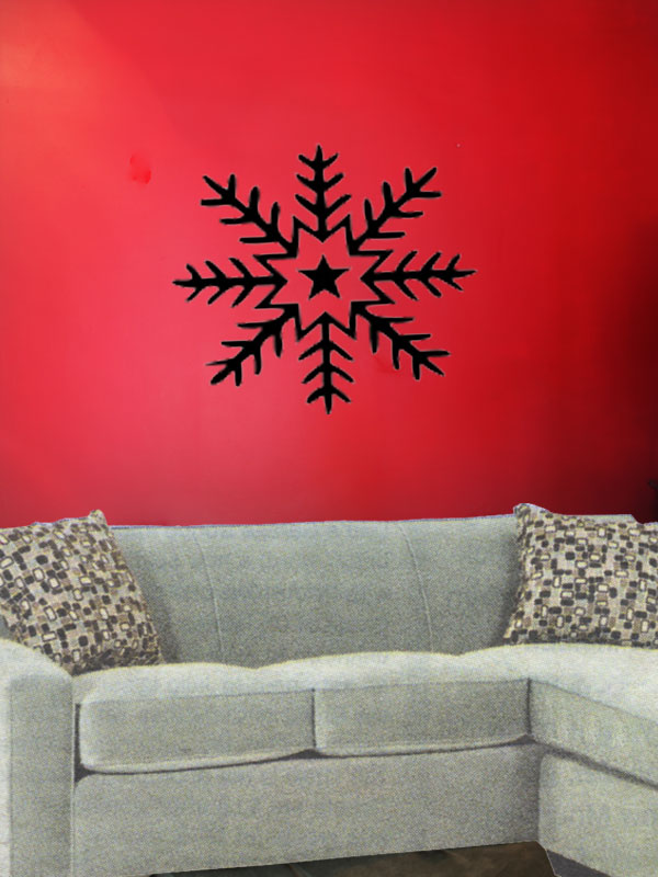 snowflake tattoo. Snowflake 111. Wall Tattoo